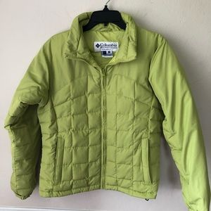 Columbia Lime Green Puffer Jacket